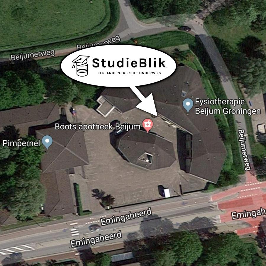 Studieblik Groningen, bij het gezondheidscentrum, emingaheerd 8 in Beijum, Groningen.